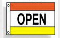 Open (red white yellow)