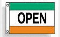 Open (green white orange)
