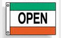 Open(green white red)